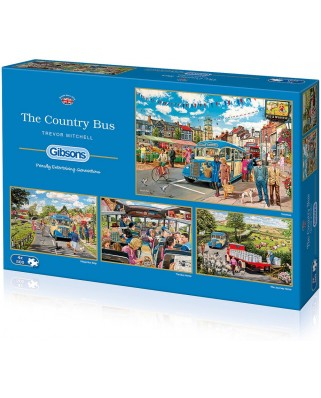 Puzzle Gibsons - Trevor Mitchell: The Country Bus, 4x500 piese (52017)