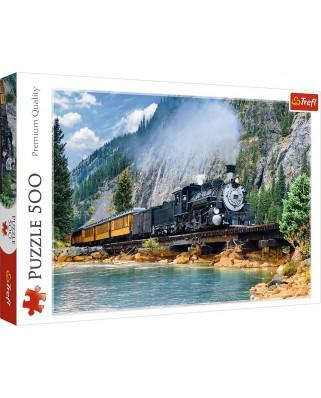 Puzzle Trefl - Mountain Train, 500 piese (37379)