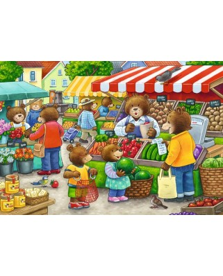 Puzzle Ravensburger - Magazin Alimentar, 2x12 piese (05076)