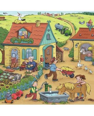 Puzzle Ravensburger - Munca La Ferma, 3x49 piese (05078)