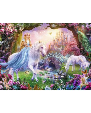 Puzzle Ravensburger - Zana Si Unicorn, 100 piese (12887)