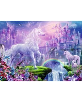 Puzzle Ravensburger - Unicorn Cu Sclipici, 100 piese (12907)