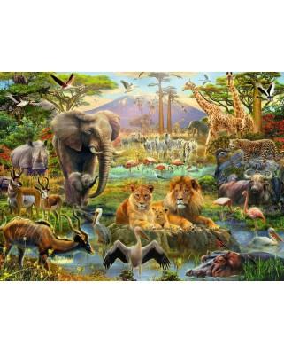 Puzzle Ravensburger - Animale Din Savana, 200 piese (12891)