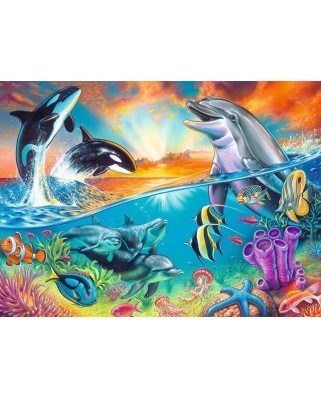 Puzzle Ravensburger - Animale Din Ocean, 200 piese (12900)