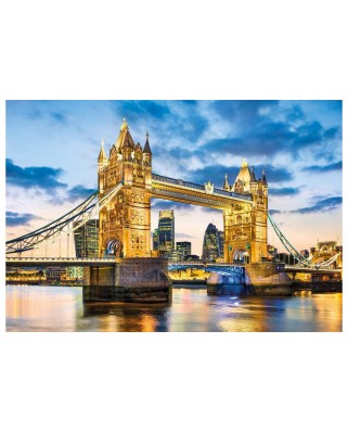 Puzzle Clementoni - Tower Bridge at Dusk, 2.000 piese (32563)