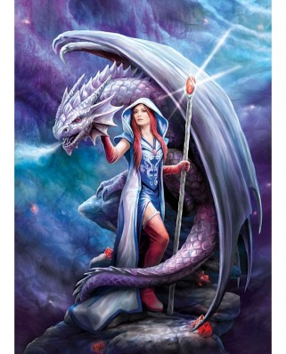 Puzzle Clementoni - Anne Stokes: Dragon Mage, 1.000 piese (39525)