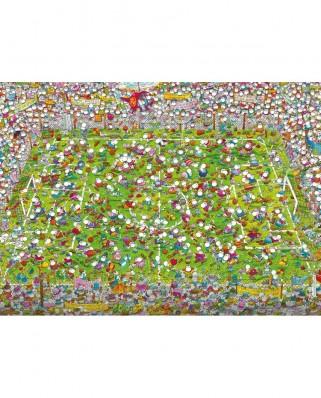Puzzle Clementoni - Guillermo Mordillo: The Match, 1.000 piese (39537)