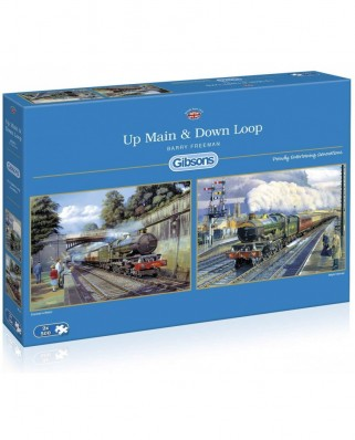 Puzzle Gibsons - Up Main & Down Loop, 2x500 piese (65102)