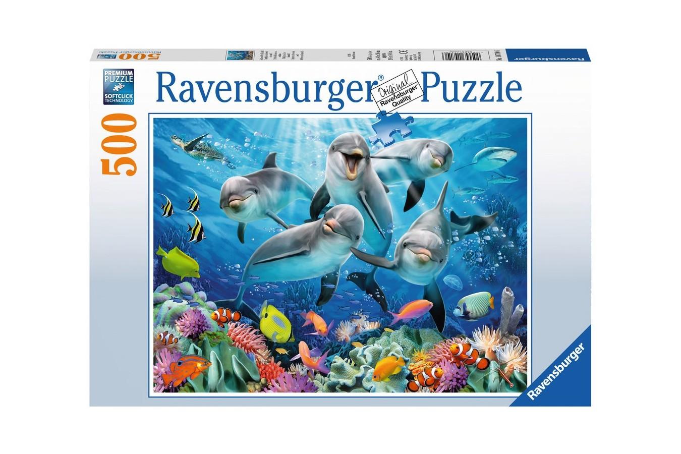 Puzzle Ravensburger - Delfini, 500 piese (14710)