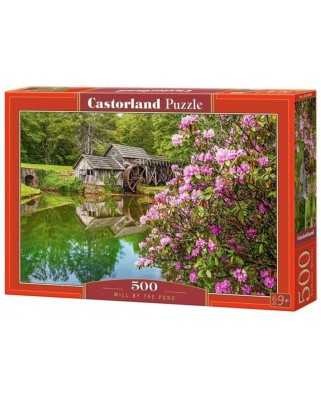 Puzzle Castorland - Mill by the Pond, 500 piese (53490)