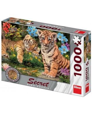 Puzzle Dino - Secret Puzzle - Tiger Babies, 1000 piese (53277)