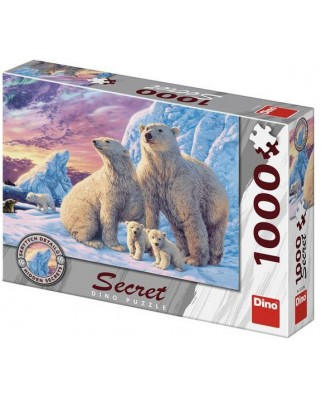 Puzzle Dino - Secret Puzzle - Polar bears, 1000 piese (53278)