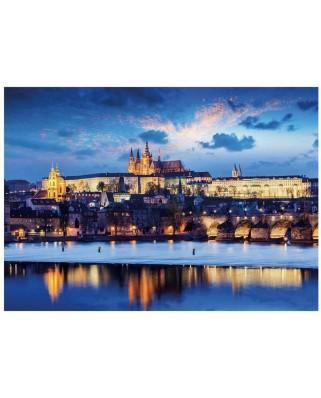 Puzzle fosforescent Dino - Prague Castle, 1000 piese (54127)