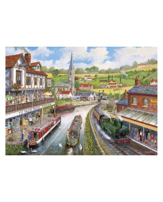 Puzzle Gibsons - Ye Old Mill Tavern, 500 piese XXL (65094)