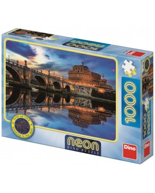 Puzzle fosforescent Dino - Angel Castle, 1.000 piese (54129)