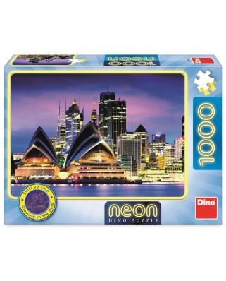 Puzzle fosforescent Dino - Sydney Opera, 1000 piese (54130)