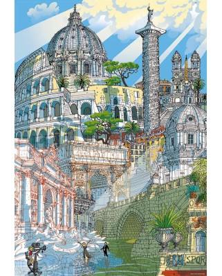 Puzzle Educa - Citypuzzles - Roma, 4x200 piese (18468)