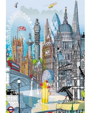 Puzzle Educa - Citypuzzles - London, 6x200 piese (18470)