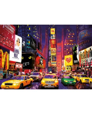 Puzzle fosforescent Educa - Times Square Neon, 1.000 piese (18499)