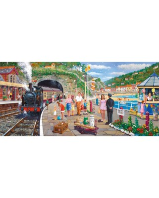 Puzzle panoramic Gibsons - Derek Roberts: Seaside Train, 636 piese (52019)