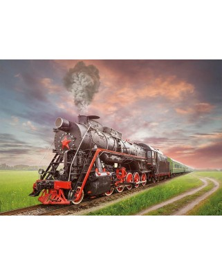Puzzle Educa - Soviet Train, 2.000 piese (18503)