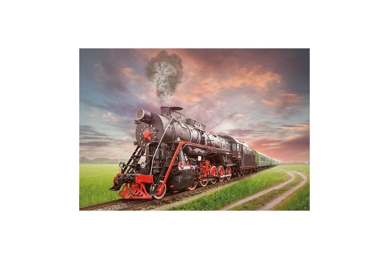 Puzzle Educa - Soviet Train, 2000 piese (18503)