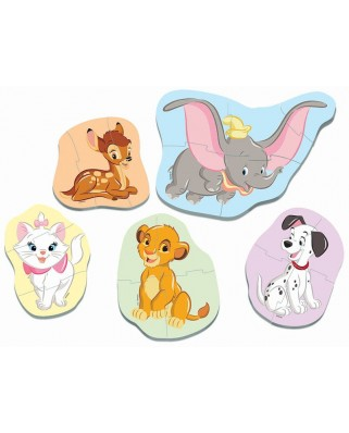 Puzzle Educa - Baby Disney Animals, 3/3/4/4/5 piese (18591)
