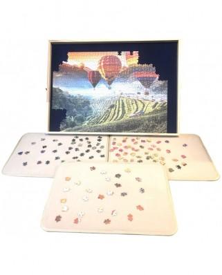 Masa Deluxe pentru puzzle de 1000 de piese, cu 3 tavi pentru sortare