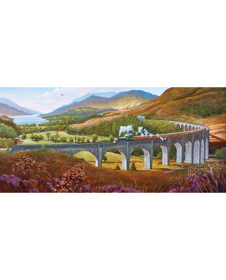 Puzzle panoramic Gibsons - Mike Jeffries: Glenfinnan Viaduct, 636 piese (57571)