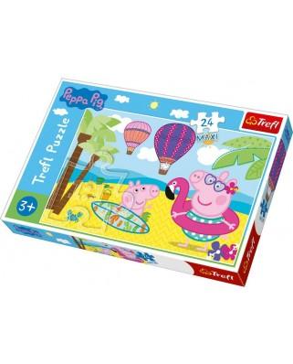 Puzzle Trefl - Peppa Pig, 24 piese XXL (14293)