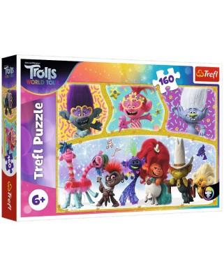 Puzzle Trefl - Trolls World Tour, 160 piese (15396)