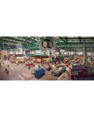 Puzzle panoramic Gibsons - Terence Cuneo: Under the Clock, 636 piese (52020)