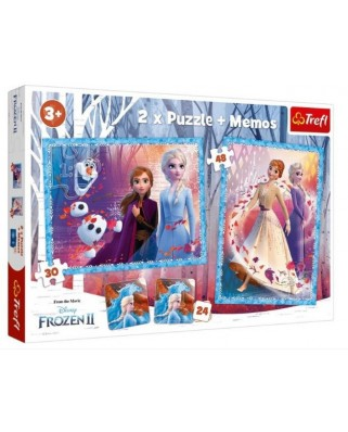 Puzzle Trefl - Memo - Frozen, 30/48 piese (90814)