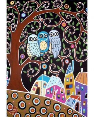 Puzzle Anatolian - Karla Gerard: Three Owls, 500 piese (3605)