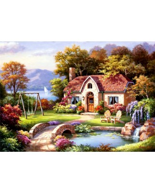 Puzzle Anatolian - Sung Kim: Spring Cottage In Full Bloom, 1500 piese (4556)