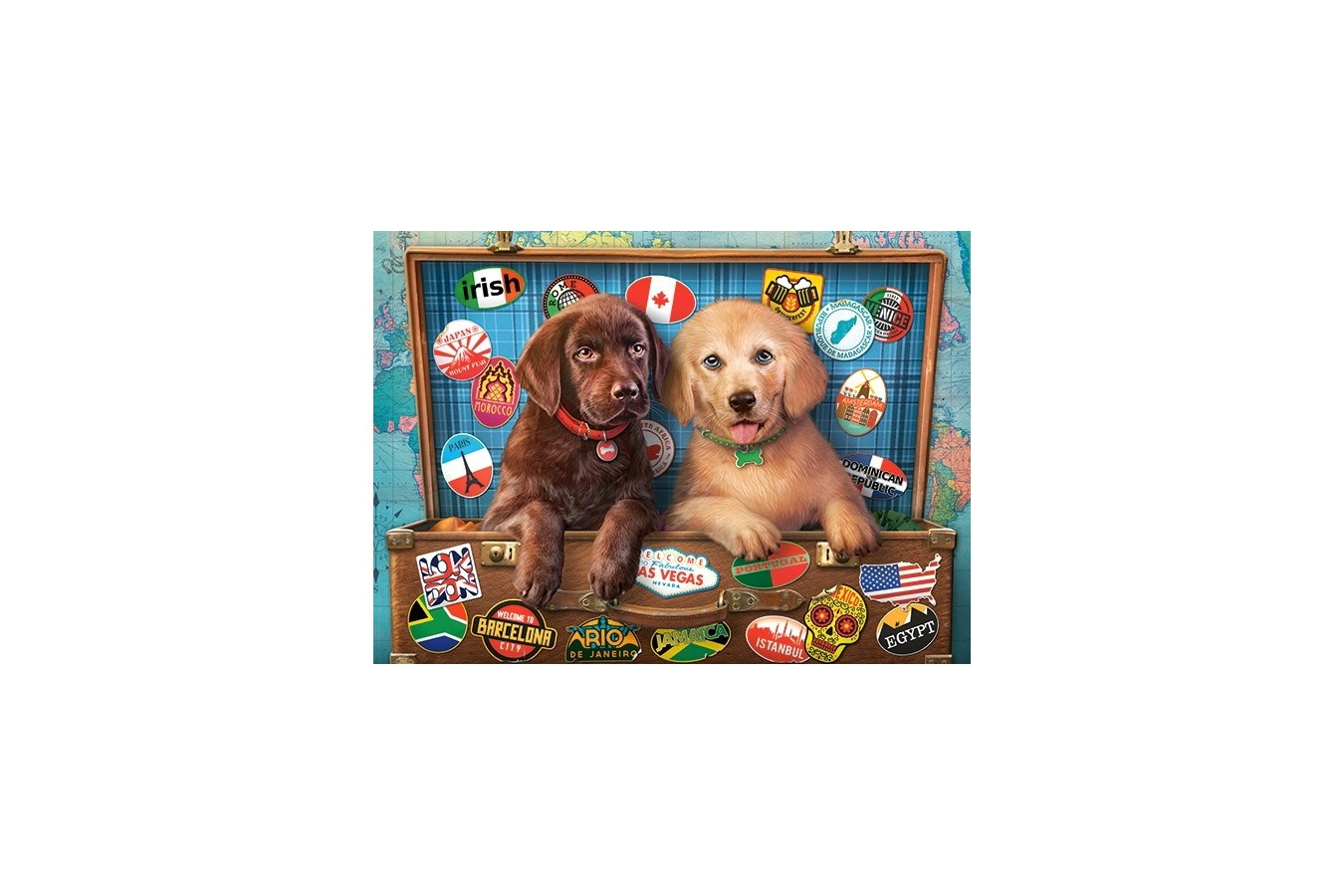 Puzzle Castorland - Stowaway Pups, 300 piese (030422)
