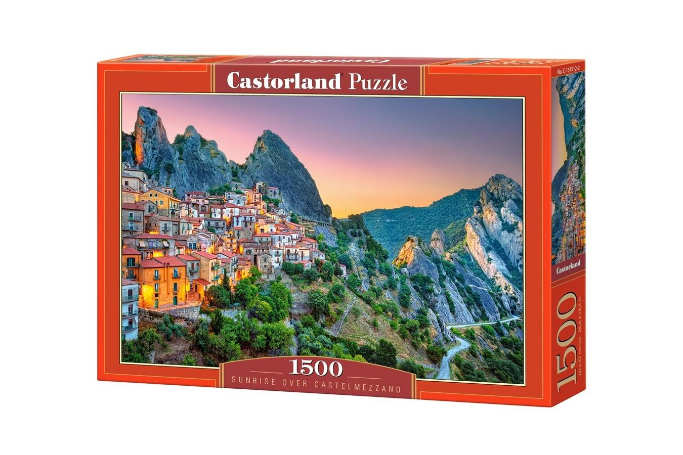 Puzzle Castorland - Sunrise over Castelmezzano, 1500 piese (151912)