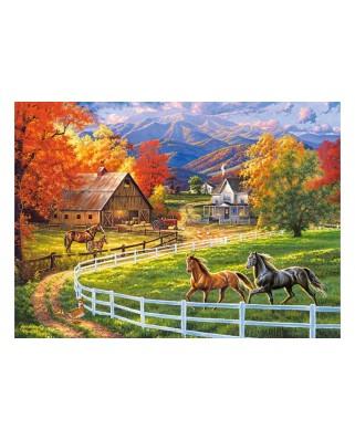 Puzzle Castorland - Horse Valley Farm, 200 piese (222124)