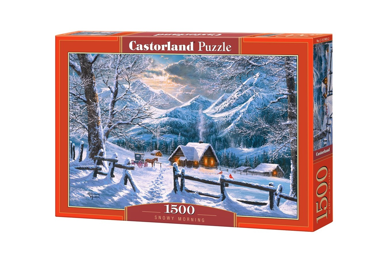 Puzzle Castorland - Snowy Morning, 1500 piese (151905)