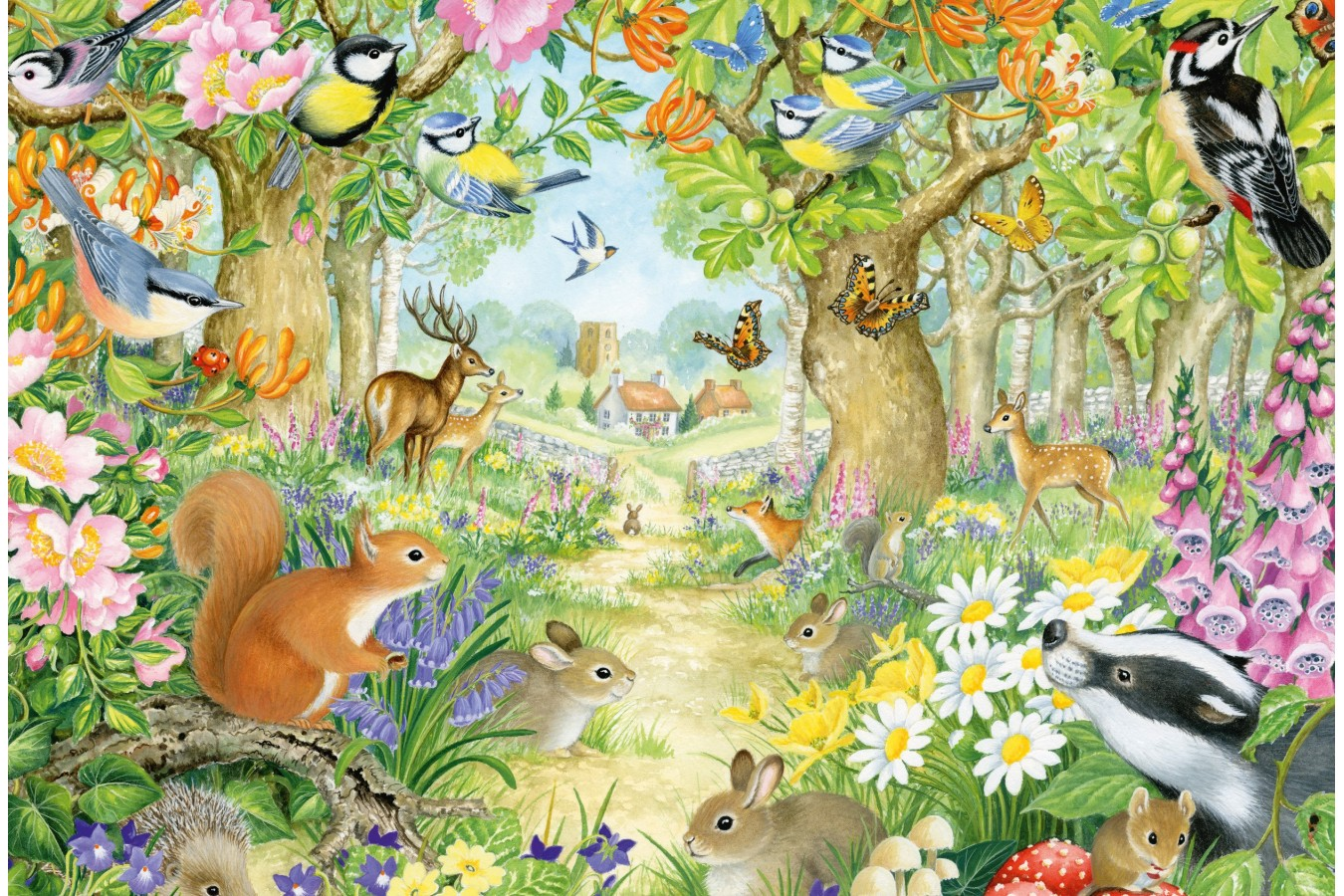 Puzzle Schmidt - Animals In The Forest, 100 piese (56370)