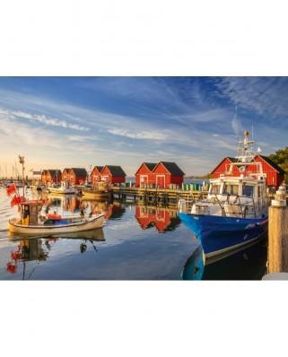 Puzzle Schmidt - Fishing Harbor - Weisse Wiek, 500 piese (58955)