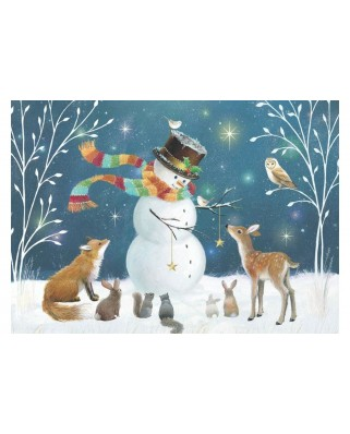Puzzle Educa - Snowman And His Friends, 500 piese (18957)