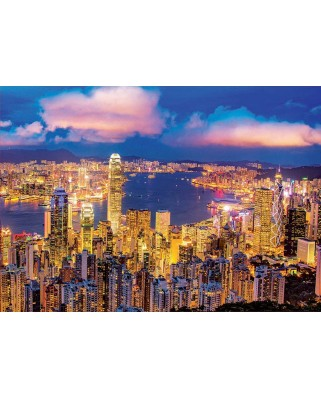 Puzzle fosforescent Educa - Hong Kong, 1.000 piese (18462)