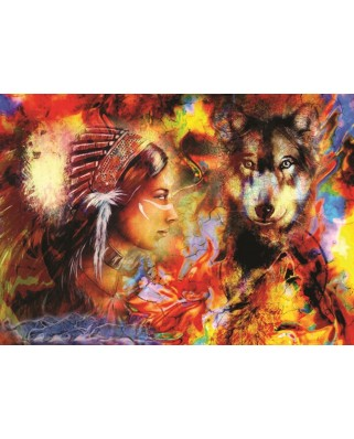 Puzzle Anatolian - Wolf Maiden, 1500 piese (4562)