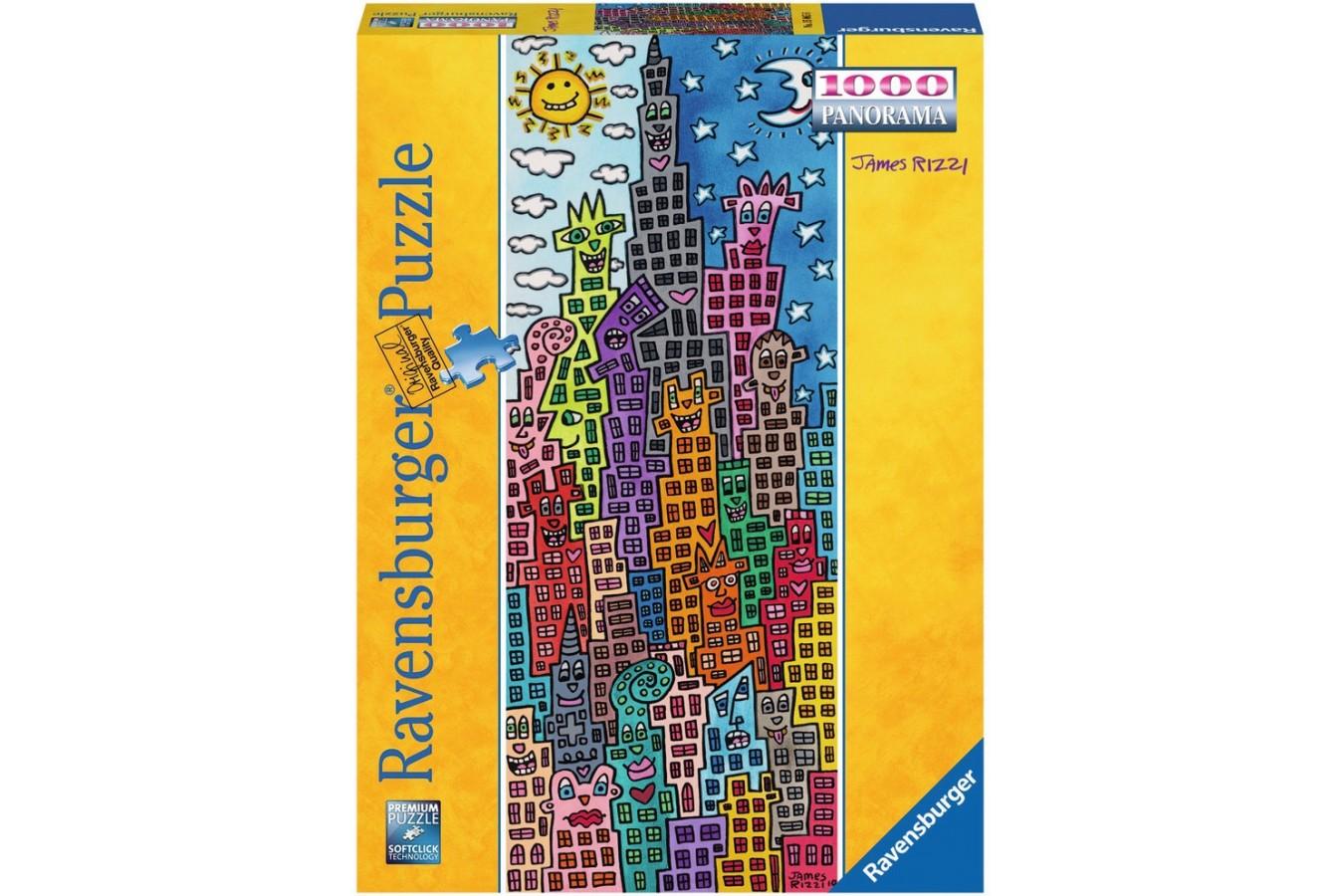 Puzzle Ravensburger - Rizzi James: Cladiri Amuzante, 1000 piese (15065)
