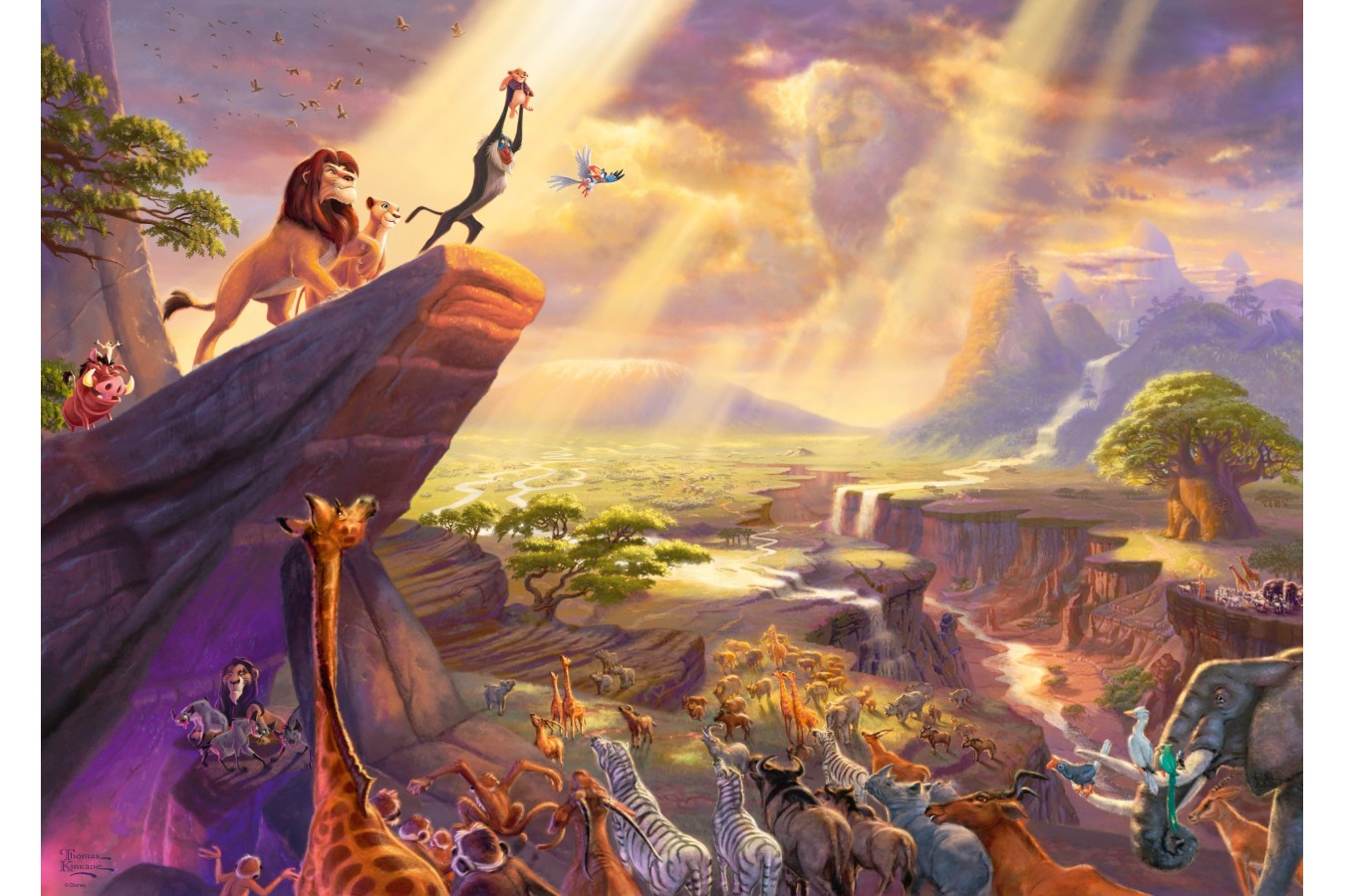 Puzzle Schmidt - Thomas Kinkade: Lion King, 1.000 piese (59673)
