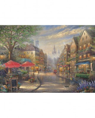 Puzzle Schmidt - Thomas Kinkade: Cafe In Munchen, 1.000 piese (59675)