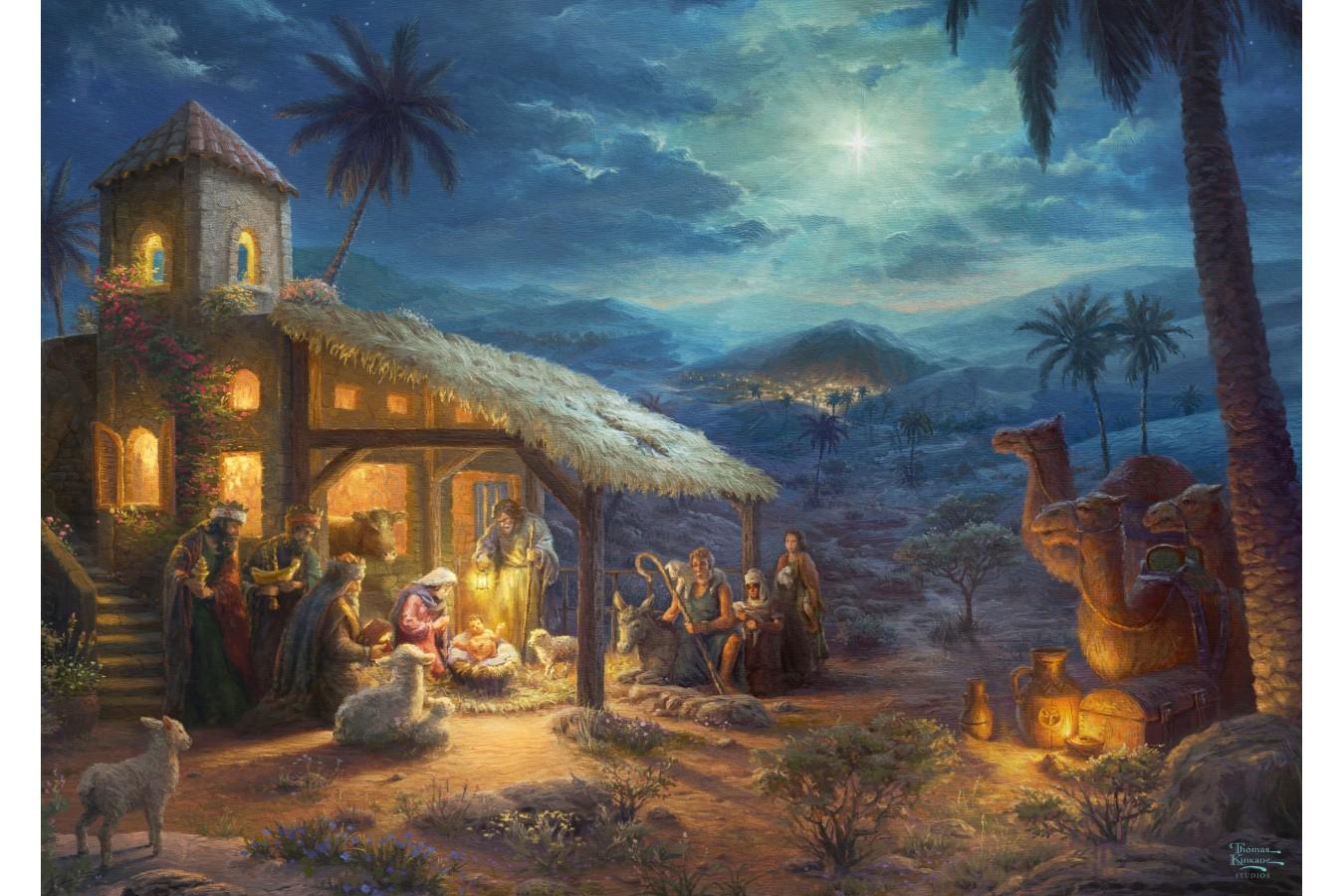 Puzzle Schmidt - Thomas Kinkade: Nativity, 1.000 piese (59676)