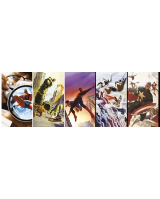 Puzzle panoramic Clementoni - Marvel 80 Years, 1000 piese (39546)
