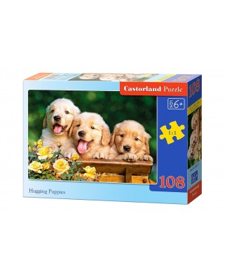 Puzzle Castorland - Hugging Puppies, 108 piese